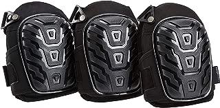 AmazonBasics Professional Gel Cushion Knee Pads - 3 Pair, Black