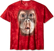 The Mountain Big Face Baby Orangutan Adult T-Shirt, Red, 4XL