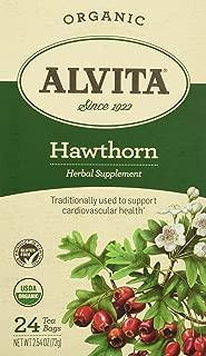 Alvita Organic Herbal Tea Bags, Hawthorn Berry, 24 Count