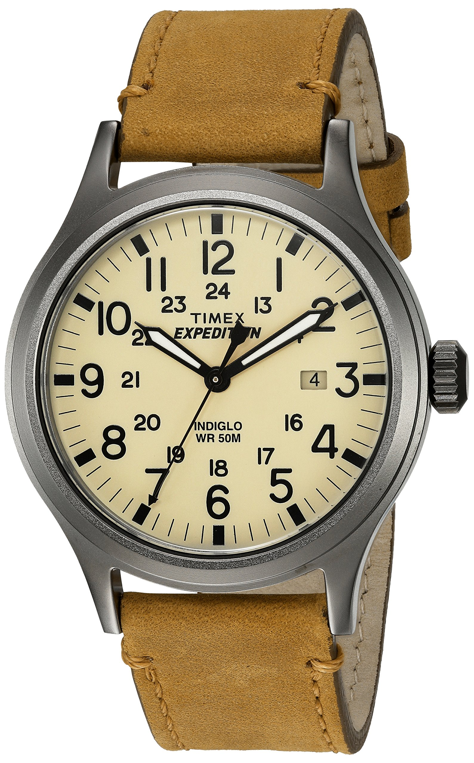 Timex TWC001200 Expedition Natural Leather