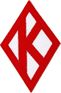 Kappa Alpha Psi Fraternity Diamond Embroidered Appliqué Patch Sew or Iron On Greek Blazer Jacket Bag Nupe (Diamond Plain Patch)