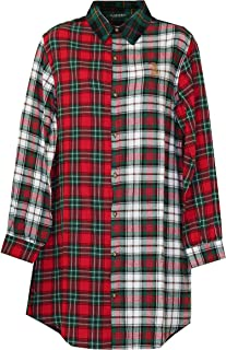 Ralph Lauren Signature Colorblock Plaid Sleepshirt Nightgown