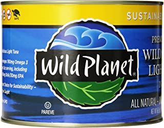 Wild Planet Wild Skipjack Light Tuna in Spring Water, 3rd Party Mercury Tested, 66.5 Ounce