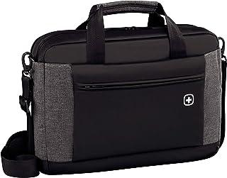 Wenger 601057 Underground 16' Laptop Aktentasche, gepolsterte Laptopfach mit iPad/Tablet / eReader Tasche in schwarz / grau {9 Liter}