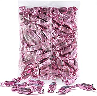 Baby Pink Foils Chewy Taffy Candy, 1-Pound Bag of Baby Pink Color Themed Kosher Candies Individually Wrapped Strawberry Fruit-Flavored Taffies (NET WT 454g, About 63 Pieces)