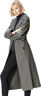 Find 女式超大格子风衣