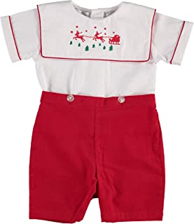 smocked christmas outfit boy
