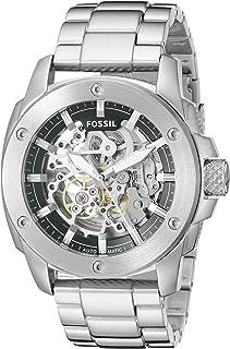 Fossil Mens Modern Machine Watch In Silvertone With Metal Bracelet