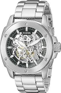 Men's Modern Machine Watch in Silvertone with Metal Bracelet