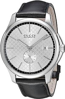 910db2b69944 Gucci Hombre ya126313 G-Timeless Collection Reloj Automático de Acero  Inoxidable con banda de piel