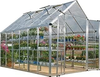 Palram HGK129 Snap & Grow Hobby Greenhouse w/Starter Kit, 8' x 12' x 9' Silver