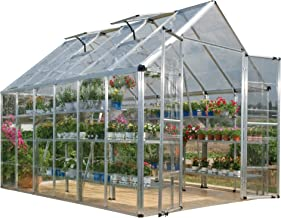Palram Snap & Grow 8' Series Hobby Greenhouse - 8 x 12 x 9 Silver