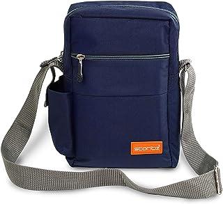 Storite Stylish Nylon Sling Cross Body Travel Office Business Messenger Bag for Men Women (25x16x7.5cm)