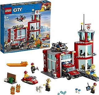 LEGO City Fire Station Building Set, Multi-Colour