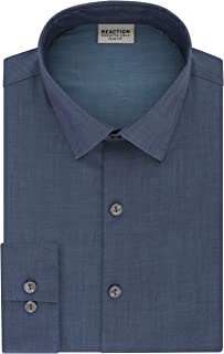 Kenneth Cole REACTION Men's Dress Shirt Slim Fit Stretch Collar Solid