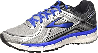 Brooks Men's Adrenaline GTS 16 Silver/ElectricBrooksBlue/Black Size 9.5 M US