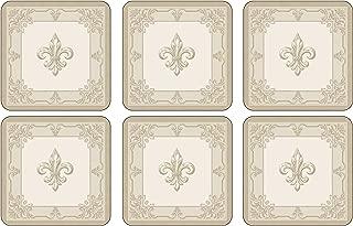 Pimpernel 2010268390 FDC-Fleur de Lys, Taupe/Gold Coasters (Set of 6) - 4