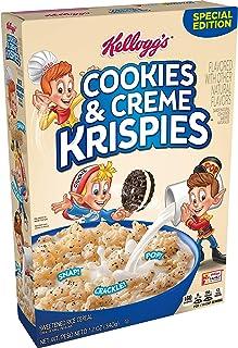 Kellogg's Cookies & Creme Krispies, Breakfast Cereal, 12oz Box(Pack of 8)