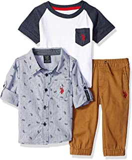Polo Assn Baby Boys T-Shirt Accessory and Pant Set U.S