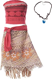 Girls Adventure Outfit Costume Skirt Set with Necklace with Headband