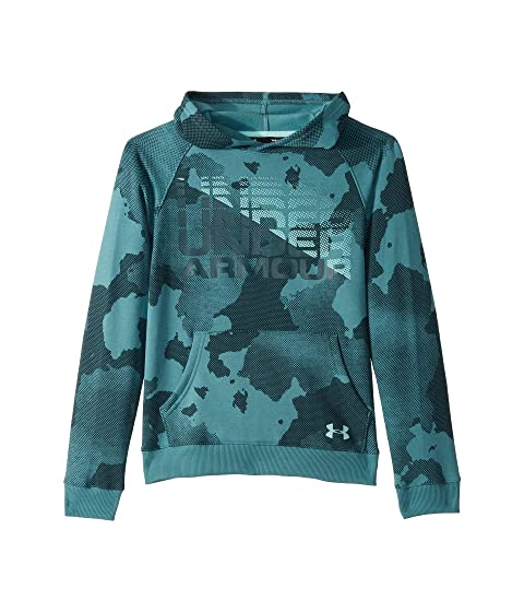 00f737b1a8c Under Armour Kids Rival Wordmark Hoodie (Big Kids) at Zappos.com