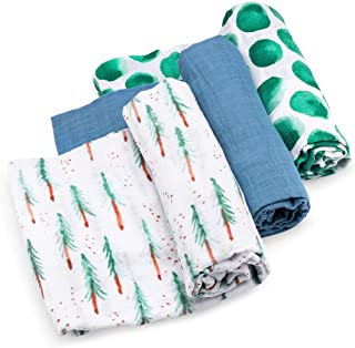 Parker Baby Swaddle Blankets - 3 Pack of 100% Cotton Muslin Swaddle Blankets for Boys -