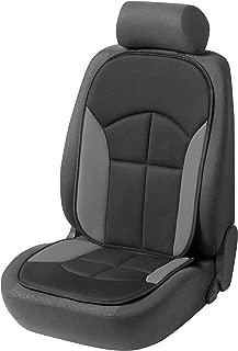 Walser 13447 Autositzauflage Novara | Universelle Sitzauflage und Schutzunterlage in Schwarz / Grau | Sitzschoner für Pkw und Lkw