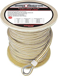 Extreme Max 3006.2276 BoatTector Double Braid Nylon Anchor Line with Thimble - 5/8