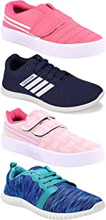 Camfoot Women's (5049-9030-9031-1162) Multicolor Casual Sports Running Shoes (Set of 4 Pair)