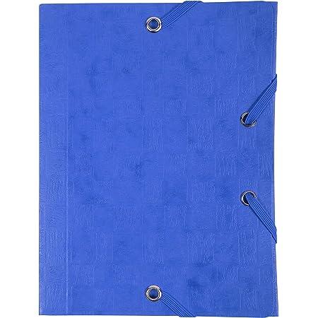 EXACOMPTA 50750E Chemise à élastique 3 rabats Scotten 425g/m2 - Pocket 12x16cm Couleurs aléatoires
