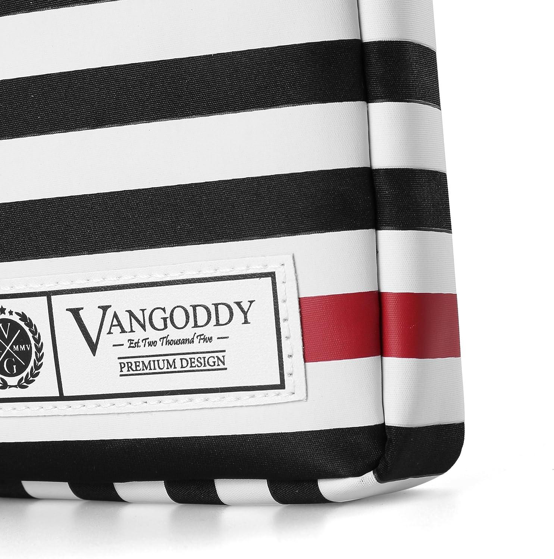 Vangoddy JAC 17.3 inch Laptop Tablet Sleeve Black White Accent Stripe Pattern Design for Toshiba 17.3 inch Laptop Ultrabook PC Satellite, Tecra