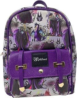 "Disney's Villains - Maleficent 11"" Faux Leather Mini Backpack -Purple"
