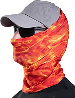 Aqua Design Fishing Hunting Masks Neck Gaiters for Men and Youth: UPF 50+ Sun Mask Protection: Camo Half Face Cover Balaclava Bandana