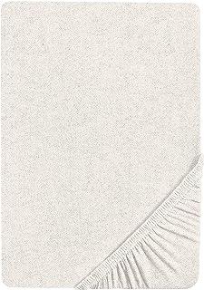 biberna 0841380 Drap-Housse en Flanelle Unie Gris Hauteur Max. du Matelas 22 cm 140 x 200 cm -> 160 x 200 cm