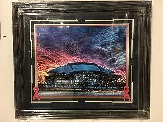 Dallas Cowboy's AT&T Stadium Custom Framed Breast Cancer Awareness 15x18 Photo