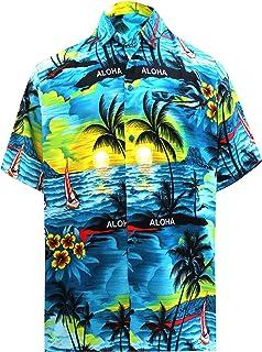 Zolimx Camicie Casual da Uomo Camicia Hawaiana Funky Camicia Motivo Estivo con di Palme Aloha A Maniche Corte Stampata in 3D con Stampa T-Shirt Top