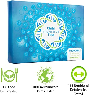 5Strands | Home Test Kit | 200 Food & 100 Environmental Intolerance Items Tested | Bonus 115 Nutritional Deficiencies | 415 Total Items | Hair Analysis | Results 1-2 Weeks | Child Standard