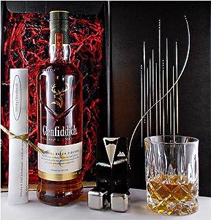 Geschenk Glenfiddich 18 Jahre Single Malt Whisky  Glas  2 Whiskey Kühlsteine
