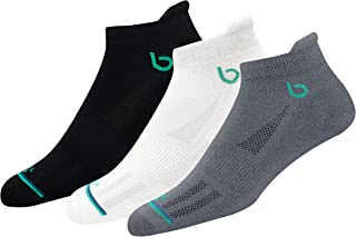BAMBOS Eco Touch Men's Athletic Ankle Socks for Running & Gym, Pack of 3 (Size UK 7-11)