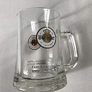Warsteiner Beer Glass Stein Small Mug Familientradition Seit 1753 Drink .3 Liter