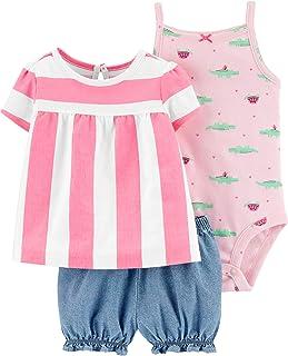 Conjunto curto Carter's para bebês meninas