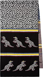 PS by Paul Smith Men's Scarf Dino Knit, Black, One Size