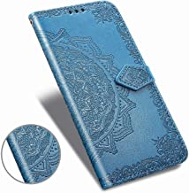 Compatible with iPhone 11 Pro(2019) 5.8 Wallet Case,iPhone 11Pro Case Flower Floral Embossed Luxury PU Leather with Credit Card Holder Slot Magnetic Closure Shockproof Protective Flip Case -Blue