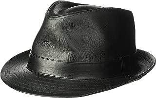 henschel leather fedora