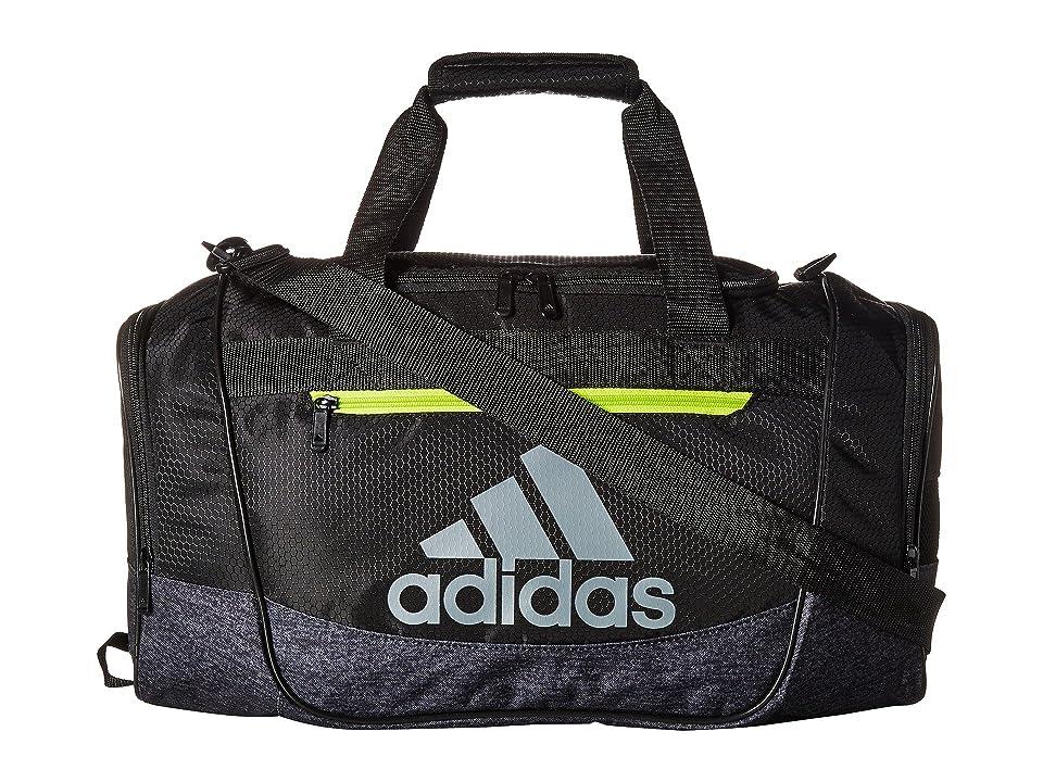 adidas Defender III Small Duffel (Black/Black Jersey/Semi Solar Yellow) Duffel Bags