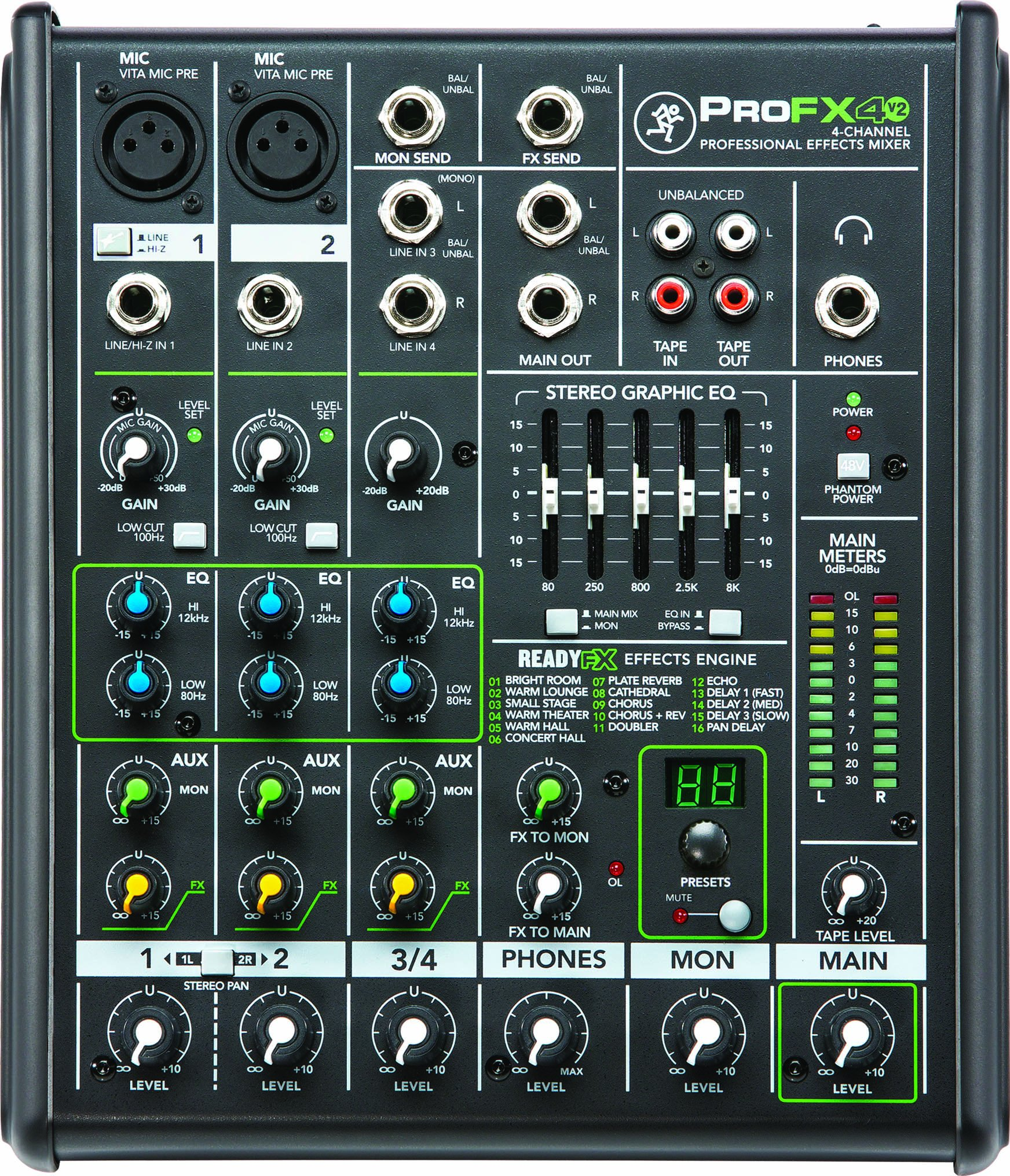 Mackie PROFX4V2 4 Channel Compact Effects