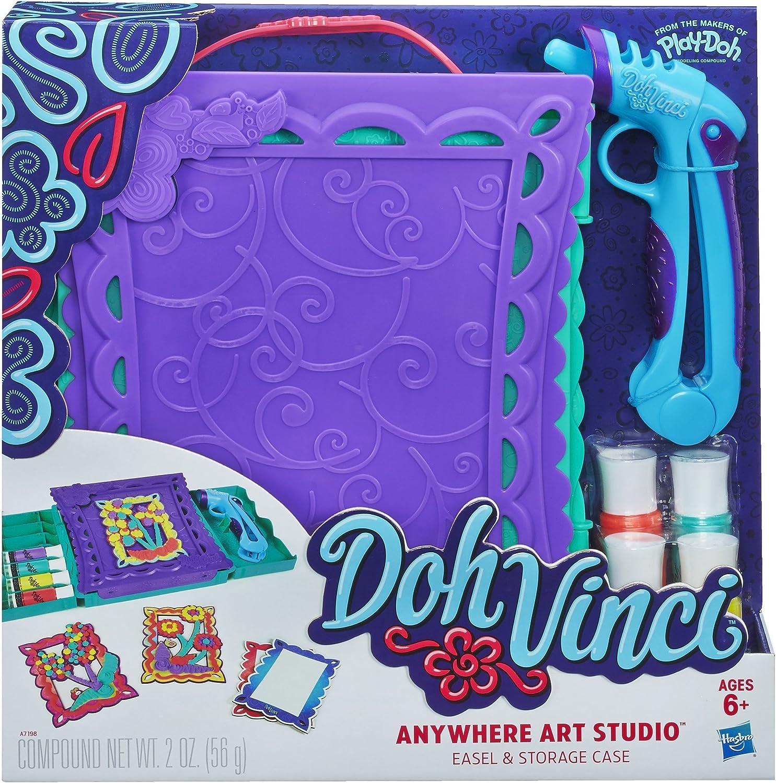 Play-Doh DohVinci überall Art Studio Staffelei und Speicherung Fall Set