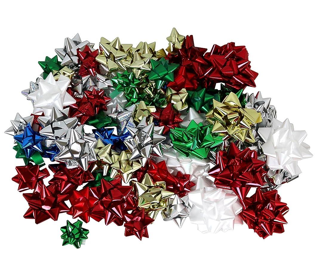 Hollywood Ribbon Inc. Christmas Bows Assortment, 84-Count
