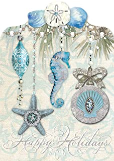 Blue Ocean Dimensional Christmas Cards by Punch Studio -- Set of 12