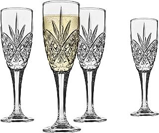 Godinger Dublin Crystal Champagne Flutes Set of 4